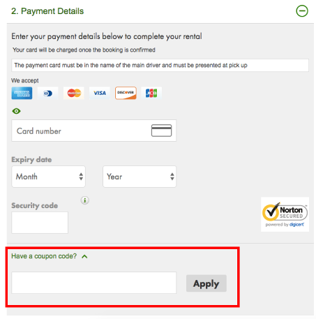 Official Europcar UK Promo Codes and Discount Vouchers